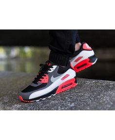 brand new fd87b 01d6e Nike Air Max 90 Infrared Reverse Infrared Comparison Trainers Mens Shoes  Uk, Mens Shoes Online