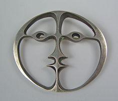 Brooch | John Prip.  Sterling silver.  ca. 1950s