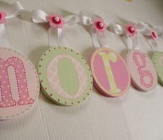 LotAspots - Children Baby Nursery Handpainted Hanging Wall Letters - Wall Quotes only $24.95 - Wall Letters