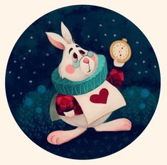 Disney fan art, lewis carroll, alice rabbit, white rabbit alice in wond Alice Rabbit, White Rabbit Alice In Wonderland, Rabbit Art, Alice In Wonderland Party, Adventures In Wonderland, Rabbit Hole, Alice In Wonderland Illustrations, Alice In Wonderland Artwork, Inspiration Artistique