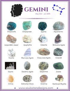 Gemini Healing Crystals by Soul Sisters Desings
