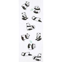 Panda washcloth 日本手ぬぐい パンダ 笹
