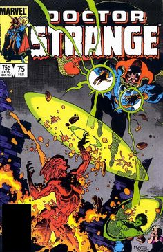 "marvel1980s: "" 1986 - Anatomy of a cover - Doctor Strange #75 by Mike Mignola """