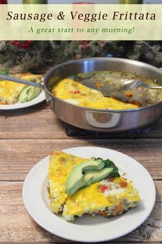 Sausage and Veggie Frittata   2CookinMamas - a healthy way to start the day. A breakfast full of protein and vegetables all cooked in one pan!:
