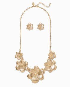 charming charlie   Delia Bib Necklace Set $14   UPC: 400000208589 #charmingcharlie