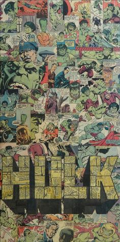 Hulk - Collage artwork by Mike Alcantara Marvel Comics, Hulk Marvel, Marvel Heroes, Comic Books Art, Comic Art, Hulk Comic, Catwoman, Comic Collage, Collage Artwork