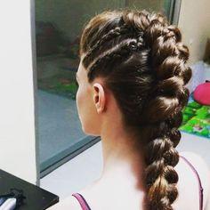 side french braids to dutch braid