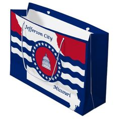 Flag of Jefferson city Missouri Large Gift Bag - craft supplies diy custom design supply special