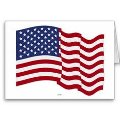 American Flag Waving Greeting Card