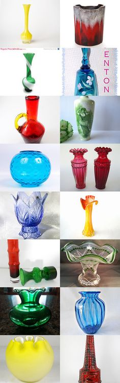 Even artificial flowers have a vase #Voguet #vintage #love. A collection of beautiful vases from some Vogueteam Shops. Also featuring our Shop of the Day, YellowBeeVintage. Enjoy! Curator: Fabien from https://www.etsy.com/shop/LeBonheurDuJour