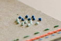 Hand Embroidered Note Cards - DIY - Flax & Twine