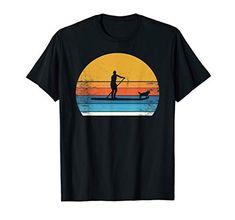 Perfektes T-Shirt für alle Hundebesitzer!  #Hund #Haustier # Vierbeiner #Hundeliebe #Hundeliebhaber #Spruch #Werbung Paddle Board Surfing, Sup Stand Up Paddle, Dog Boarding, Paddle Boarding, Surf Shirt, T Shirt, Sup Surf, Funny Tshirts, Fashion Styles