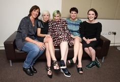 Lena Dunham and the cast of Call the Midwife