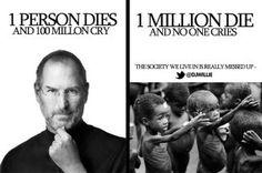 Steve Jobs & Starving Children- this is ultra rough