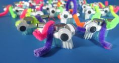 If anyone is interested in making bristlebots for the Robotics badge, I got the vibrators you need on eBay for $6 for 10, a package of 6 toothbrushes at Dollar Tree for $1, and size 347 watch batteries (4 in a package) at Dollar tree for a $1. These little guys super fun!