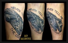 Millenium Falcon tattoo - Never Tell Me The Odds