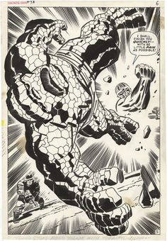 """I shall finish you quickly!"", Fantastic Four, Issue 93, Page 5, Jack Kirby"