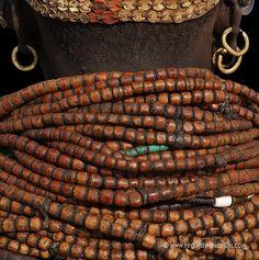 Africa | Nyangatom necklace detail | ©Benoit Feron
