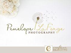 Dandelion Logo Design Photography Logo Premade Logo Design Script Logo Design…