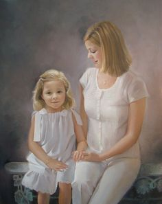 Beautiful mother-daughter portrait by a Portraits, Inc. artist