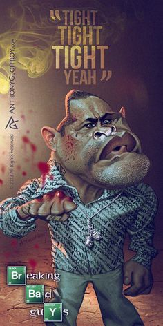 Tuco Salamanca - Breaking Bad caricature art by Illustrator and caricaturist Anthony Geoffroy Art Breaking Bad, Breaking Bad Tattoo, Breaking Bad Series, Breking Bad, The Last Don, Comic Style, Creation Art, Anne With An E, Character Illustration