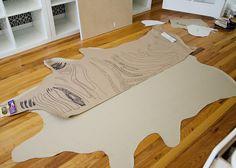 Goodnight Moon inspired faux zebra skin rub on vinyl or dropcloth Animal Skin Rug, Animal Rug, Zebra Painting, Diy Painting, Color Mood Chart, Diy Dream Home, Painted Floor Cloths, Canvas Drop Cloths, Diy Carpet
