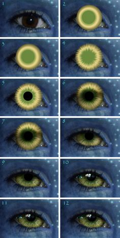 Eye tutorial - Avatar by Temawei on DeviantArt Art Tutorial Eye Drawing Tutorials, Digital Painting Tutorials, Digital Art Tutorial, Drawing Techniques, Art Tutorials, Drawing Tips, Iris Drawing, Concept Art Tutorial, Digital Paintings