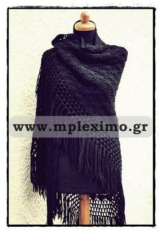crochet large black