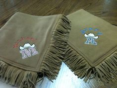 Personalized Western-style baby/toddler blanket ---> perfect baby shower gift for a western themed nursery :)