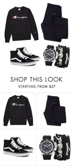 """meeeeen"" by juliadb on Polyvore featuring Champion, Givenchy, A.X.N.Y., men's fashion and menswear"