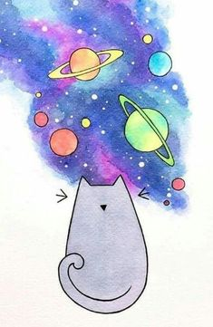 Space cat - #cat #fondos #space