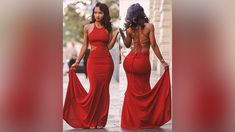 Red Prom Dresses, Affordable Long Prom Dress, Mermaid Formal Dresses wit...
