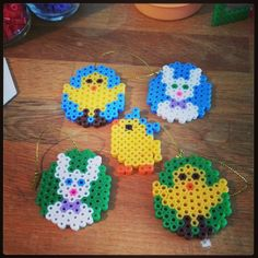 Easter ornaments hama beads by stellaruns