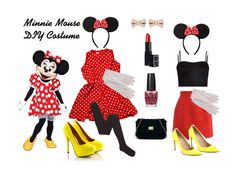 Halloween Series: DIY Minnie Mouse Costume & Makeup Tutorial