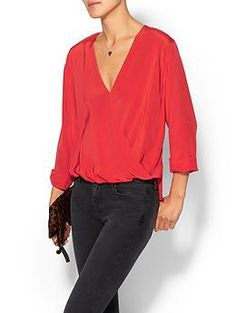 top looks comfy, could wear out or to work jhb// Rory Beca Fronzie Front Twist Blouse | Piperlime