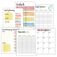 2017 printable planner from One Mama's Daily Drama bonus pages