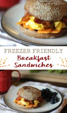 Freezer-Friendly Breakfast Sandwiches make a great, healthy freezer meal to have on hand for busy mornings. Easy to make and family friendly!