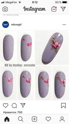 Gel Acrylic Nails, Gel Nails, Flower Nail Art, Nail Tutorials, Spring Nails, Nail Designs, Hair Beauty, Agar, Inspiration