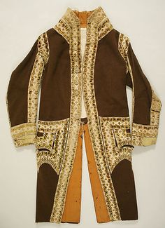 Livery coat, cotton, date given as early 19th century, Italian.