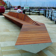 Woodscape, Bespoke, Hardwood, Innovative, Hardwood, Timber, Street Furniture, Outdoor Furniture, Urban Realm, Public Spaces, Seats, Seating, Benches, LDA Design, Scarborough, Harbourside, Percher, Loafer, Slatted