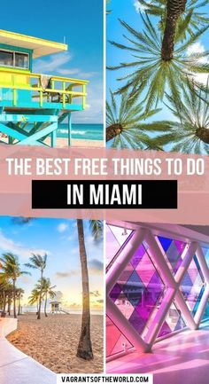 The Best Free Things to do in Miami. Here are 21 totally free things to do in Miami to have an epic weekend. Miami can be a pretty expensive destinations to visit, but there are actually a ton of free things to do in Miami | What do in Miami on a budget | Miami for free | Free things in Miami | Cheap things to do in Miami | #miami #florida Usa Travel Guide, Travel Usa, Travel Guides, Budget Travel, Travel Tips, Travel Info, Travel Advice, Florida Vacation, Florida Travel