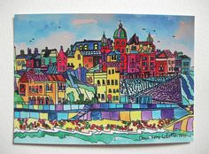 POSTCARD OFCOLOURFUL CROMER SEA FRONT NORFOLK