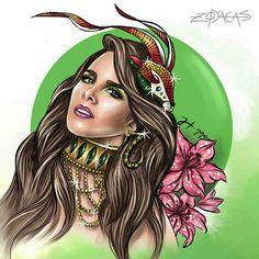 Artista retrata as celebridades brasileiras de cada signo do zodíaco My Moon Sign, Moon Signs, Capricorn Sign, Capricorn Women, Horoscope Signs, Zodiac Art, Astrology Zodiac, Virgo And Cancer, Brazilian Women