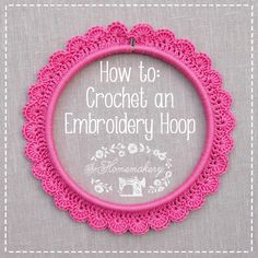 How to crochet around an embroidery hoop ╭⊰✿Teresa Restegui http://www.pinterest.com/teretegui/✿⊱╮