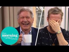 Ryan Gosling and Harrison Ford Lose It at Hilarious Interview on This Morning (UK) Harrison Ford, Ryan Gosling, Funny Gags, Hilarious, Itv Presenters, Deaf Children, Jeremy Lin, Film Blade Runner, Funny Jokes For Adults