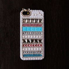 Trible #Mix #Colorful #Gems iPhone 5/5s Case(Rainbow) - Fashion9shop.com