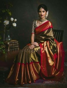 Pose n jewelry Elegant Indian Saris Click above VISIT link for more info Indian Bridal Sarees, Wedding Silk Saree, Indian Bridal Fashion, Bridal Lehenga, Indian Dresses, Indian Outfits, Sari Bluse, Indische Sarees, Bandeau Outfit