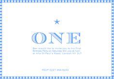One! 1st Birthday invite