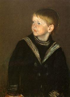 sailor boy, artmari cassatt, boy garden, cassatt american, mari cassett, garden cassatt, mary cassatt, sailors, stevenson cassatt