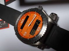 Breitling Emergency Professional:  This time piece will not only tell you the time, altitude, etc; It could save your life.  Equipped with a special radio transmitter, it will broadcast a distress signal.  As a bonus, this is the watch worn by Man vs. Wild's Bear Grylls.  $6000 #Breitling, #BearGrylls, #Emergency,